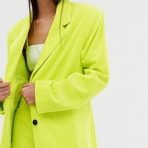 BRAND NEW w/ TAGS ASOS Neon Green Oversized Blazer